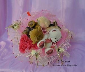"""Розовое облако"" Букет из мягких игрушек"